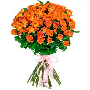 Розы Кустовые оранжевые